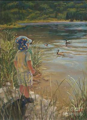 Budding Wildlife Expert Art Print by Harriett Masterson