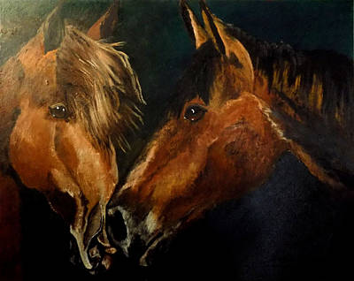 Painting - Buddy And Comet by Maris Sherwood