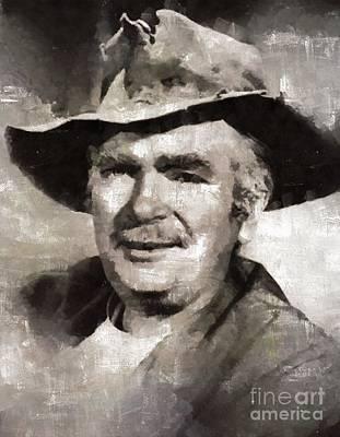Buddy Ebsen, Actor Art Print by Mary Bassett