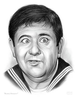 Benjamin Drawing - Buddy Hackett by Greg Joens