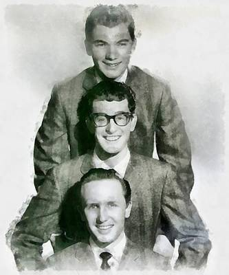 Buddy Holly Painting - Buddy Holly And The Crickets by John Springfield