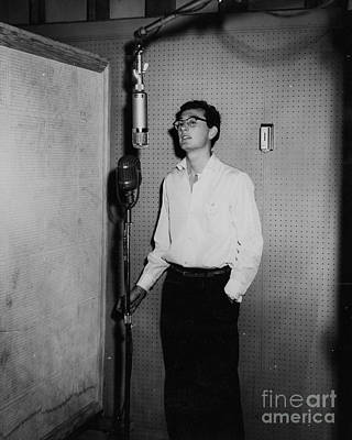 Buddy Holly Photograph - Buddy Holly At Decca Studios Audtion.. by The Titanic Project