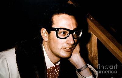 Buddy Holly Photograph - Buddy Holly Backstage During His Last Tour. by The Titanic Project