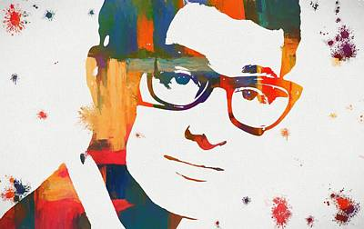 Music Paintings - Buddy Holly by Dan Sproul