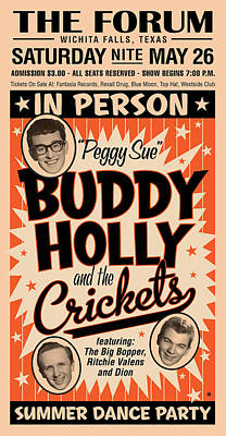 Digital Art - Buddy Holly by Gary Grayson