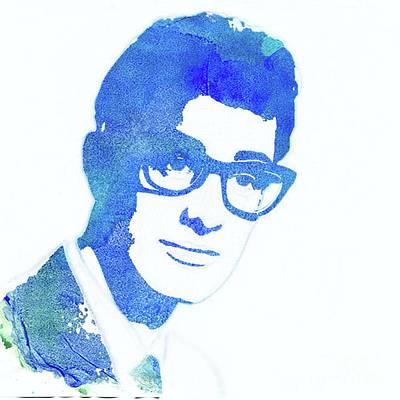 Buddy Holly Painting - Buddy Holly Pop Art by Mary Bassett