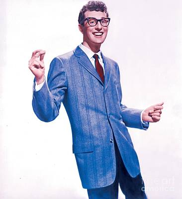 Buddy Holly Promotional Photo. Art Print