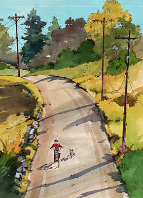 Painting - Buddy 'n Bike by Art Scholz