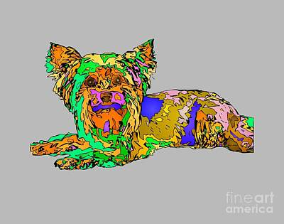 Digital Art - Buddy. Pet Series by Rafael Salazar