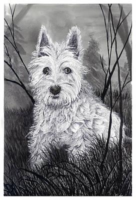 Buddy The Dog Art Print by Jonathan Baldock