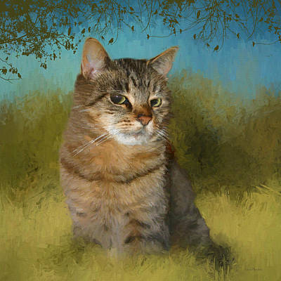 Painting - Buddy The Tabby 2 by Ericamaxine Price