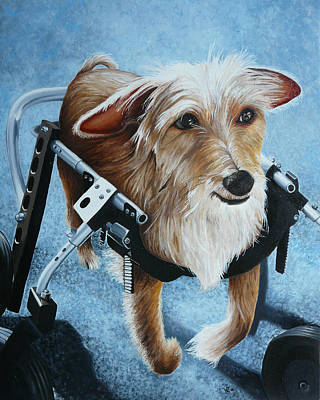 Handicapped Painting - Buddy's Hope by Vic Ritchey