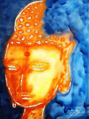 Painting - Budha by Baljit Chadha