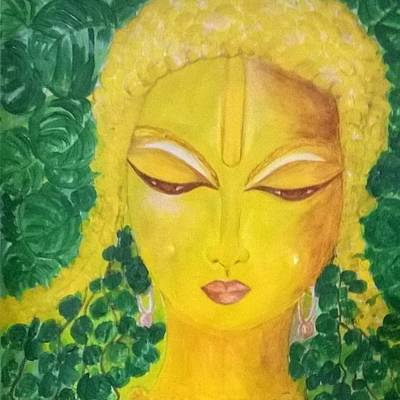 Painting - Budha by Seema Sharma