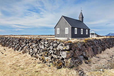 Photograph - Budir Church Snaefellsnes Peninsula Iceland by Colin and Linda McKie