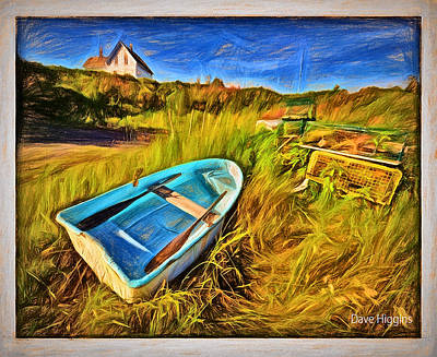 Budks Harbor #1,machiasport, Maine Art Print by Dave Higgins