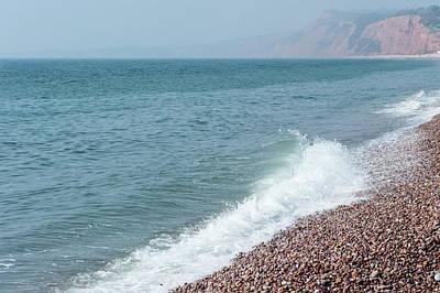 Photograph - Budleigh Seascape I by Helen Northcott