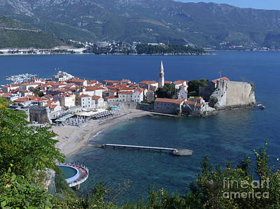 Photograph - Budva Old Town And Beach by Phil Banks