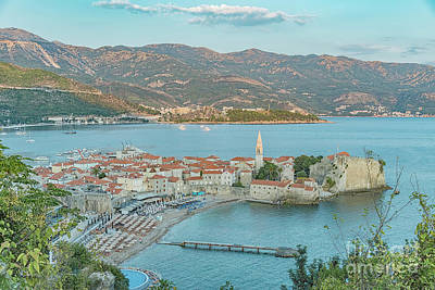 Photograph - Budva Stari Grad Elevated Viewpoint by Antony McAulay