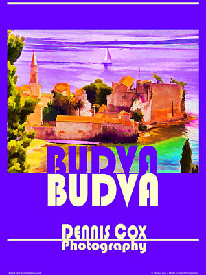 Antlers - Budva Travel Poster by Dennis Cox Photo Explorer