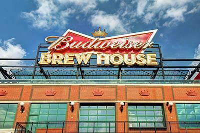 Photograph - Budweiser Brew House - Saint Louis Cardinals Busch Stadium by Gregory Ballos