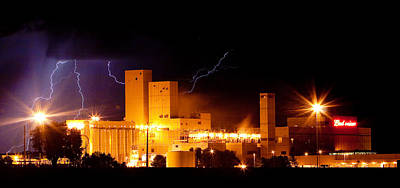 Budweiser Brewery Lightning Thunderstorm Image 3918 Panorama Art Print by James BO  Insogna