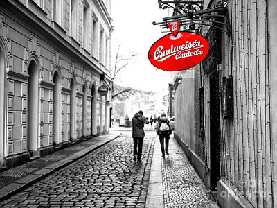 Photograph - Budweiser In Prague by John Rizzuto