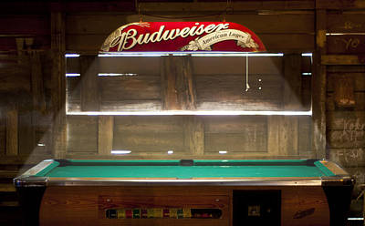 Photograph - Budweiser Light Pool Table by Brian Kinney