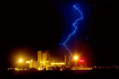 Lightning Bolt Photograph - Budweiser Lightning Strike by James BO  Insogna