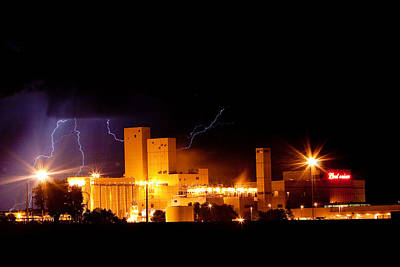 Budwesier Brewery Lightning Thunderstorm Image 3918 Art Print by James BO  Insogna