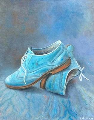 Fancy Shoes Painting - Bue Shoes by Johan Van Alteren