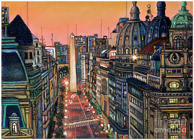 Buenos Aires Twilight Art Print