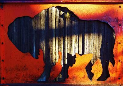 Photograph - Wooden Buffalo 4  by Larry Campbell