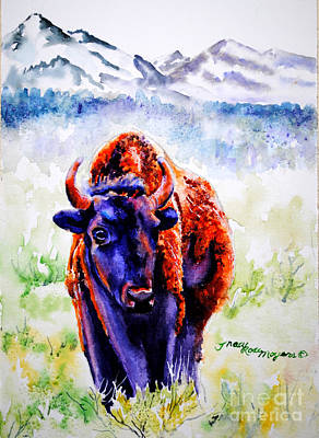 Painting - Buffalo #2 by Tracy Rose Moyers