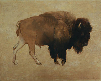 Painting - Buffalo by Attila Meszlenyi