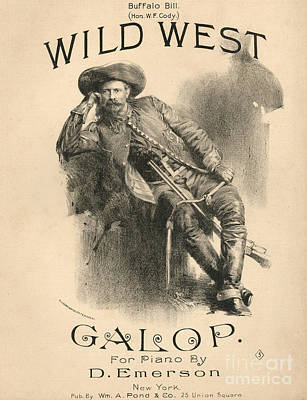Old West Drawing - Buffalo Bill by American School