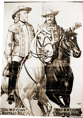 Photograph - Buffalo Bill And Pawnee Bill by Gary Wonning