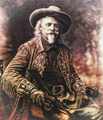 Painting - Buffalo Bill  by Ian Gledhill