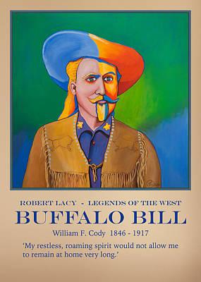 Buffalo Bill Poster Art Print by Robert Lacy