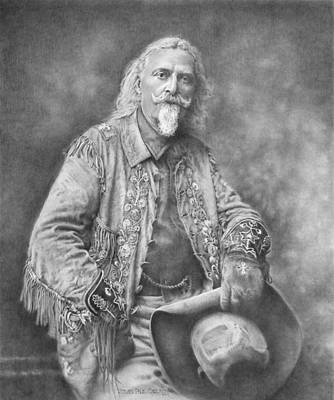 Paul Drawing - Buffalo Bill by Steven Paul Carlson