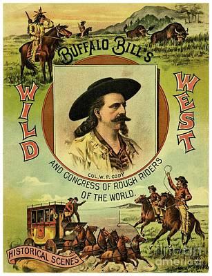 Buffalo Bill Wild West Art Print by Heidi De Leeuw