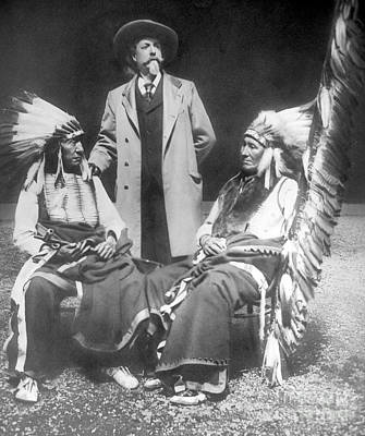 Old West Photograph - Buffalo Bill With Red Cloud And American Horse by David Frances Barry