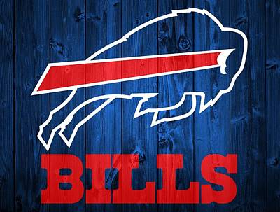 Athletes Mixed Media - Buffalo Bills Barn Door by Dan Sproul