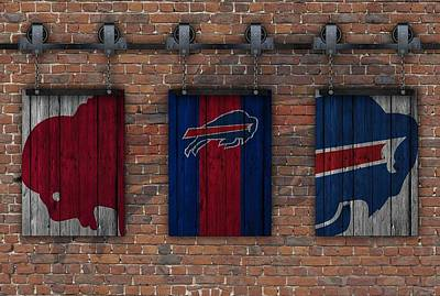 Photograph - Buffalo Bills Brick Wall by Joe Hamilton