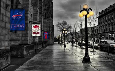 Buffalo Bills Wall Art - Photograph - Buffalo Bills Flags by Joe Hamilton