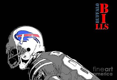 Buffalo Bills Football Team And Original Typography Art Print