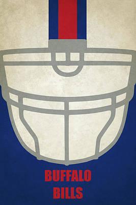 Painting - Buffalo Bills Helmet Art by Joe Hamilton