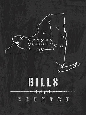 Buffalo Art Digital Art - Buffalo Bills / Nfl Football Art / Orchard Park New York by Damon Gray
