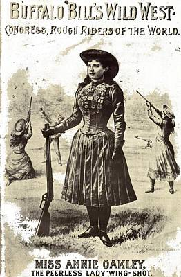 Fruits And Vegetables Still Life - Buffalo Bills Poster featuring Annie Oakley 1880s-2015 by David Lee Guss