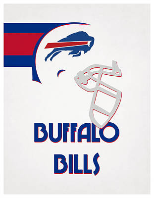 Water Buffalo Wall Art - Mixed Media - Buffalo Bills Team Vintage Art by Joe Hamilton